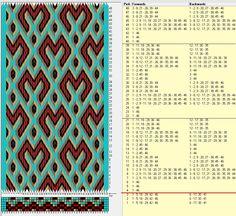 46 tarjetas hexagonales, 5 colores, repite cada 18 movimientos // sed_405_c6 diseñado en GTT༺❁