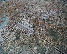 "Képtalálat a következőre: ""ancient rome city aerial"" Rome History, Ancient History, Roman Architecture, Historical Architecture, Circus Maximus, Rome Antique, Rome City, City Model, In Vino Veritas"