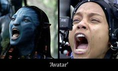Avatar  - Lo único azul en su cara son esos puntos... Avatar, Fictional Characters, Special Effects, Faces, Movies, Blue, Dots, Fantasy Characters