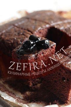 Постный шоколадный бисквит — Кулинарные рецепты любящей жены