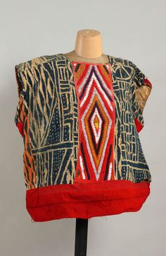 Africa | Male Royal Tunic; fabric and glass beads | Banjoun, Cameroon