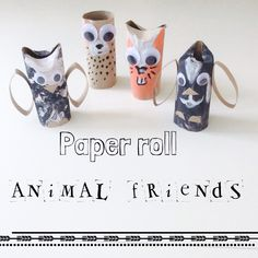 Easy paper roll craft for a rainy day : make a bunch of these animal friends !
