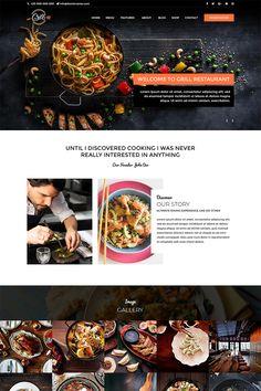 Grill - Restaurant PSD Template Food Web Design, Menu Design, Ui Design, Layout Design, Dessert Restaurant, Grill Restaurant, Maquette Site Web, Top Website Designs, Restaurant Website Design