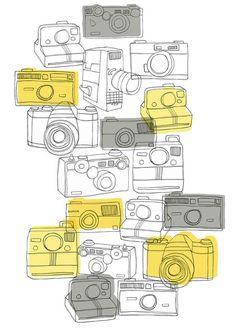 Cameras, print 30x40 cm (12x15,7 inch)