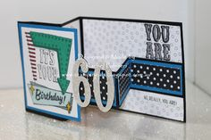 Stampin' Pals: Birthday Cards - Handmade With Love 80th Birthday Cards, Masculine Birthday Cards, Handmade Birthday Cards, Male Birthday, Masculine Cards, Husband Birthday Cards, Z Cards, Stampin Up Cards, Card Making Inspiration