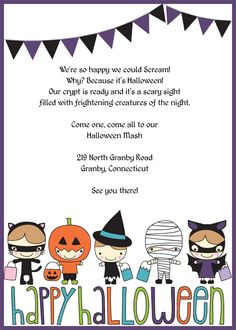 Costume Party Kids Halloween Party Invitations Halloween Party - Halloween party invitation template