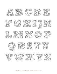 Triangle Alphabet - www.sdionbaker.com
