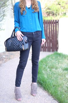 spring outfit with fringe