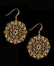 Tudor Round Filigree Swirl Earrings
