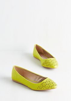 Bold Boost Flat in Citrus, #ModCloth
