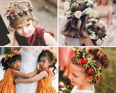 Flower girl hairstyles.