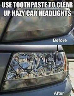 Hazy car lights