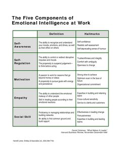 Iammoulude Emotional Intelligence Components And Competence Frameworks Part 2