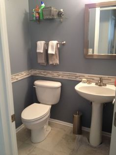 Want a half bathroom that will impress your guests when entertaining? Update your bathroom decor in no time with these affordable, cute half bathroom ideas. Budget Bathroom Remodel, Bathroom Renovations, Bathroom Makeovers, Half Bath Remodel, Restroom Remodel, Tub Remodel, House Renovations, Simple Bathroom, Bathroom Ideas