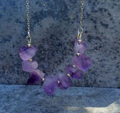 The AMETHYST BEADED Necklace  // Natural Amethyst by ShopParadigm, $34.00