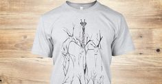 http://teespring.com/homage-to-marius  This limited edition artwork by Roger E. Anderson features a group of creepy, surreal, wild hermits, their heads adorned with branches and antlers, standing is a thicket.  Yet in the background is a giraffe with a tear falling from one eye.  Marius was a giraffe who is no longer with us.  Enjoy.