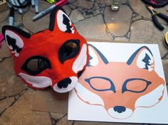 Felt Fox Chibi Mask Digital File by MarstenCo on Etsy Owl Mask, Bear Mask, Animal Masks, Animal Heads, Maske Halloween, Costume Halloween, Halloween Outfits, Halloween Masks, Mascaras Halloween