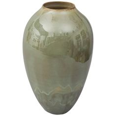 Contemporary 2015 Green Celadon Vase, One of a Kind, Karen Swami | From a unique collection of antique and modern ceramics at https://www.1stdibs.com/furniture/dining-entertaining/ceramics/