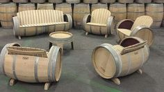 Muebles con barriles