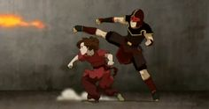Image result for avatar the last airbender gif fight