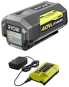 Ryobi 40V Battery and Charger Kit 4.0 Ah Lithium-Ion Battery Set OEM OP4040 + OP403A - - Amazon.com Wagon Wheel Chandelier, Candle Chandelier, Rustic Chandelier, Outdoor Deck Lighting, Black Vanity Bathroom, Hollywood Lights, Light Well, Outdoor Tools, Wall Mounted Vanity