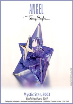 Collector's guide to Value of Thierry Mugler Angel Perfume Bottles limited edition Collecting Alien Perfume, Perfume Good Girl, Perfume Parfum, Perfume Zara, Lovely Perfume, Perfume Bottles, Angel Parfum, Angel Fragrance, Fragrance