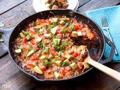 Chicken Quinoa Enchilada Bake  http://www.kimshealthyeats.com/chicken-quinoa-enchilada-bake/