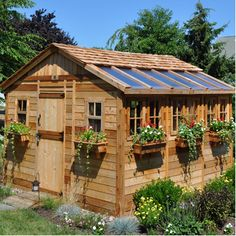 Outdoor Living Today Sunshed 12' W x 12' D Wood Garden Shed. The heck with a shed! I would live in this!!!