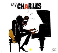 Cabu 2009 Ray Charles - Une Anthologie, 1949-1961 (Cabu Jazz Masters) [BDJazz CABU-542] #albumcover #portrait