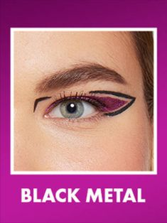 Liquid Liner, Nyx Cosmetics, Black Metal, How To Wear