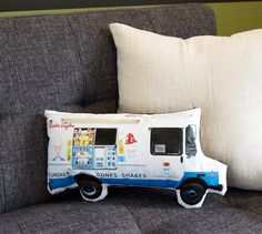 Mr. Softee ice cream truck pillow.......i just remember the truck. lol
