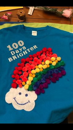 day of school T-shirt<br> 100th Day Of School Crafts, 100 Day Of School Project, 100 Days Of School, First Day Of School, School Projects, Projects For Kids, Crafts For Kids, 100th Day Project Ideas, School Stuff
