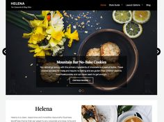 Helena — Free WordPress Themes Corporate Blog, Grid Layouts, Beautiful Fonts, No Bake Cookies, Wordpress Theme, Style Guides, Make It Yourself, Free, User Experience