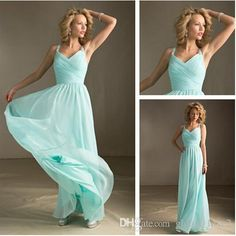 Mint Green Bridesmaid Dresses Long Floor For Cheap Spaghetti Party Gown Chiffon Prom Party Gowns Under 100 Plus Size Wedding Party Dresses Long Gowns Maid Of Honor Dresses From Global_love, $62.83  Dhgate.Com