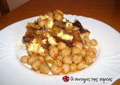 Great recipe for Chickpeas in the Dutch oven with eggplants. My husband's favorite recipe and because of it we NEVER have chickpea soup as I like it! Recipe by ΝΟΙΚΟΚΥΡΟΥΛΑ Greek Recipes, Dog Food Recipes, Snack Recipes, Cooking Recipes, Healthy Recipes, Snacks, Greek Dishes, Side Dishes, Sour Foods