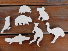 Wooden puzzle Australian animals Plywood puzzle Intellectual