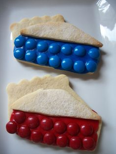 Fourth of July pie cookies ... Another decorating use for M.