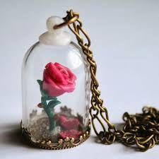 la rosa del principito con cristal