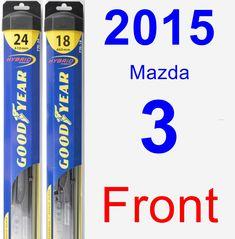 Front Wiper Blade Pack for 2015 Mazda 3 - Hybrid