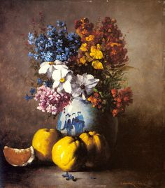 Still+Life+Oil+Paintings+Vases | oil painting reproduction on canvas of A Still Life with a Vase ...
