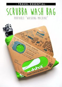 Scrubba Wash Bag - even if you have a washing machine, this is great for smalls and delicates.