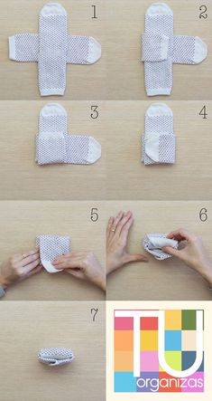Meias, como dobrar, pendurar e guardar Folding socks just became a thing! How to fold socks & store~♡ Organize socks to fit in drawers Not Marie Kondo but interesting Home Organisation, Closet Organization, Organization Ideas, Clothing Organization, Dresser Drawer Organization, Organize Dresser Drawers, Drawer Dividers, Folding Socks, Clothing Hacks