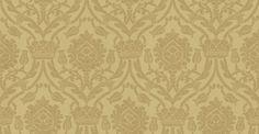 Bohemian Damask (W621-03) - Sheila Coombes Wallpapers - A traditional crown and tulip style all over damask with a hand painted effect. Shown in the subtle, beige on putty colourway. Please request sample for true colour match.