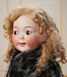 Cotillion - The Susan Whittaker Collection : 49 Wonderful German Bisque Jubilee Googly, Model Size by Hertel and Schwab Old Dolls, Antique Dolls, Vintage Dolls, Arch Brows, Kewpie, Child Doll, Doll Accessories, Beautiful Dolls, Paper Dolls