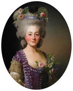 Portrait of Countess de Baviere-Grosberg  1780  Alexander Roslin Love the flaming red cheeks.