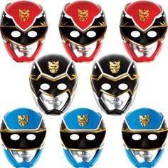 Paper Power Rangers Masks 8ct - Party City