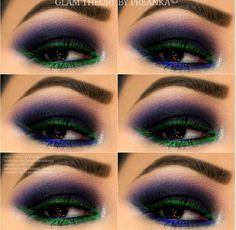 The colors are insane!! Love My Makeup, Makeup For Green Eyes, Gorgeous Makeup, Makeup Looks, Joker Halloween, Scary Halloween Costumes, Halloween Face Makeup, Skeleton Costumes, Joker Costume