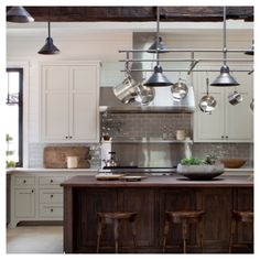 This kitchen has great balance between modern and rustic