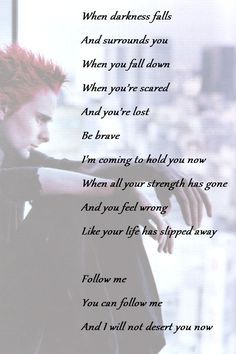 picture: Matthew Bellamy text: Muse-Follow me (2nd Law album)