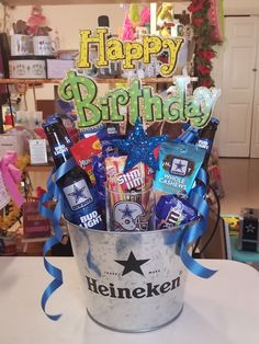 Birthday Gift Baskets, Birthday Gifts, Gift Baskets For Men, Snack Recipes, Snacks, Sports Gifts, Ben And Jerrys Ice Cream, Dallas Cowboys, Pop Tarts